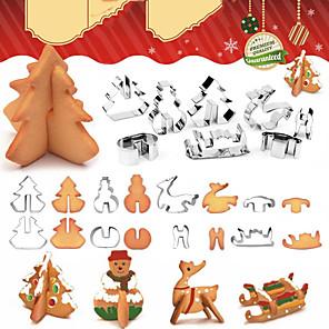 ieftine Instrumente cookie-petrecere de Crăciun 3d tăietor de prăjituri om de zăpadă brad de Crăciun prăjituri mucegai biscuiți fondant tăietoare instrumente de decorare tort