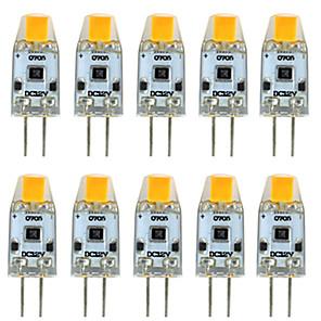 ieftine Spoturi LED-10pcs 3 W Becuri LED Bi-pin 300 lm G4 T 1 LED-uri de margele COB Intensitate Luminoasă Reglabilă Model nou Alb Cald Alb 12 V