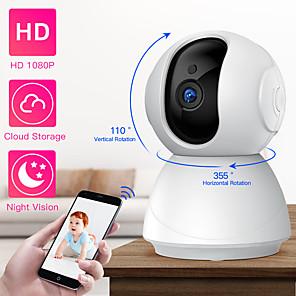 ieftine Camere IP-sdeter hd 1080p ptz camera de securitate wireless wifi pan pană înclinare cloud de stocare în două sensuri audio ip camera cctv camera supraveghere viziune de noapte bebeluș monitor pentru animale de