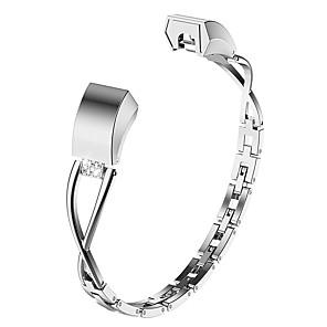 Недорогие Ремешки для спортивных часов-Ремешок для часов для Fitbit Alta Fitbit Дизайн украшения Нержавеющая сталь Повязка на запястье