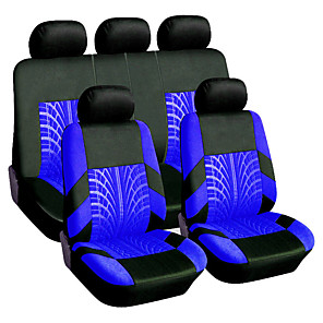 ieftine Huse de Scaun & Accessorii-9 buc / set universal pneu respirabil stil de șerubă auto acoperire scaun auto protectie caz pernă tampon de mașină stil auto mașină de protecție patru anotimpuri accesorii auto