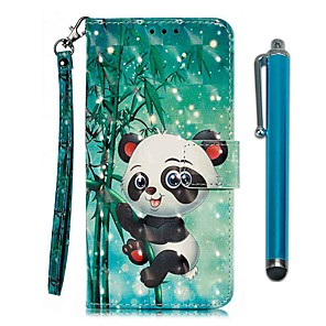 preiswerte Hüllen / Cover für Xiaomi-Hülle Für Xiaomi Xiaomi Redmi 7 / Redmi Note 7 / Redmi K20 Pro Geldbeutel / Kreditkartenfächer / mit Halterung Ganzkörper-Gehäuse Panda PU-Leder / TPU
