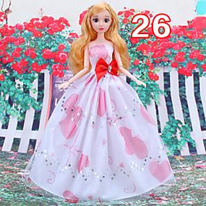 ieftine Haine Păpușă Barbie-Rochie de papusa Pentru Barbie Floral / Botanic Poliester Rochie Pentru Fata lui păpușă de jucărie