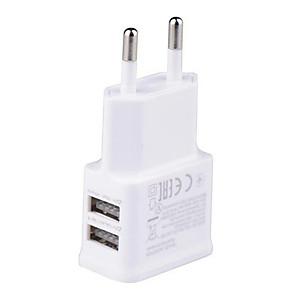 ieftine Încărcătoare Auto-5v 2a eu plug dual usb porturi perete încărcător adaptor călătorie portabilă încărcare rapidă telefon mobil cap de încărcare rapidă dublu usb