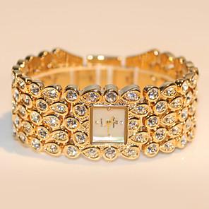 ieftine Ceasuri Damă-Pentru femei Quartz Quartz Stil Vintage Oțel inoxidabil Argint / Auriu / Roz auriu 30 m Rezistent la Apă Analog Lux Elegant - Roz auriu Auriu Argintiu Un an Durată de Viaţă Baterie