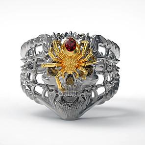 ieftine Inele-Bărbați Inel 1 buc Auriu Argintiu Diamante Artificiale Aliaj Neregulat Vintage Punk La modă Zilnic Bijuterii Stil Vintage Craniu Paienjeni