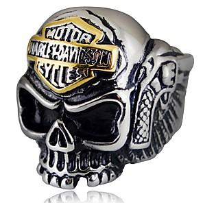 ieftine Inele-Bărbați Inel 1 buc Argintiu Aliaj Neregulat Vintage Έθνικ Gotic Zilnic Bijuterii Stil Vintage Craniu