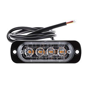 Недорогие Автомобильные зарядные устройства-12v-24v 4led стробоскоп полиции сигнальная лампа стробоскопическая решетка проблесковый маячок грузовик автомобиль маяк лампа янтарный красный синий светофор
