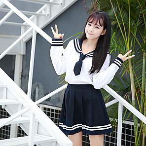 ieftine Cosplay Anime-Inspirat de Cosplay Școlărițe Anime Costume Cosplay Japoneză Costume Cosplay Uniforme Școlare Fuste Vârf Fundă Pentru Pentru femei / Papion  / Papion