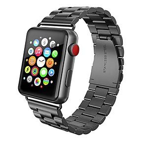 ieftine Cârlige Pescuit-bandă de ceasuri pentru ceasuri de mere seria 4/3/2/1 curea de încheietură din oțel inoxidabil cu bucle milanese