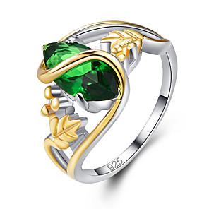 ieftine Inele-Pentru femei Band Ring Inel Cristal 1 buc Verde Albastru Alamă Articole de ceramică Placat Cu Aur Roz Declarație Lux Clasic Petrecere Bijuterii Clasic Bucurie Cool