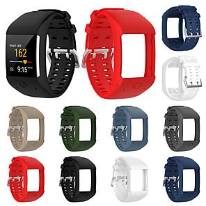 ieftine Gadget Baie-curea de mână cu bandă de cauciuc din silicon moale pentru ceas de fitness polar m600