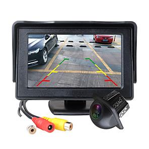 ieftine Lumini de Ceață Mașină-ziqiao 4.3 inch monitor pliabil pentru mașină tft lcd camere de afișare sistem de parcare pentru camera inversă pentru monitoare retrovizoare auto ntsc pal