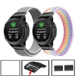 Недорогие Часы и ремешки Garmin-спортивный нейлоновый ремешок для часов ремешок для garmin fenix 6 pro / fenix 5 plus / forerunner 935 / заход на посадку s60 / quatix 5 браслет с быстрым высвобождением