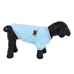 ieftine Câini Articole şi Îngrijire-Cămașă haine de câine haine solide de culoare albastru deschis violet fuchsia costum din fleece pentru corgi beagle shiba inu primăvară toamnă unisex stil simplu moda