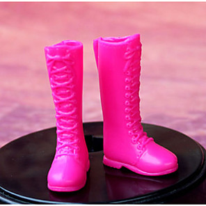 ieftine Pet Costume de Crăciun-Pantofi de papusa Pentru Barbie Culoare solidă Fire sintetice Poliester PVC Încălțăminte Pentru Fata lui păpușă de jucărie