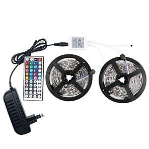 povoljno LED trakasta svjetla-LED 12V smd 5050 rgb 10m LED svjetlosne trake LED trake više boja s daljinskim upravljačem od 44 tastera 300 LED nepropusnih svjetlosnih traka s upravljačkim programom