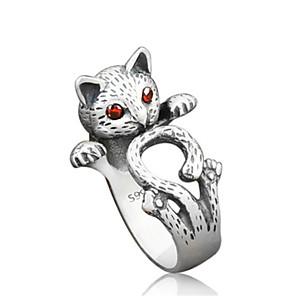 povoljno Narukvice-Žene Prsten 1pc Srebro Legura Moda Dnevno Jewelry Mačka