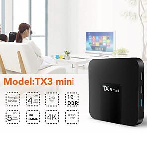 ieftine Cutii TV-tx3 mini android 7.1 tv box smart tv h2.65 iptv 4k iptv media player amlogic s905w 1g 8g cutie tanix
