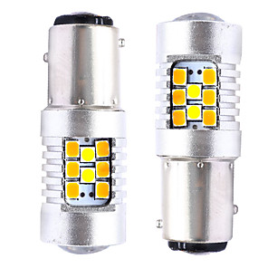 Недорогие Фары для мотоциклов-2шт t20 (7440 7443) / 3157/1157 автомобильные лампочки smd 3030 28 светодиодных указателей поворота / стоп-сигналов / фонарей заднего хода (заднего хода) для универсальных на все годы