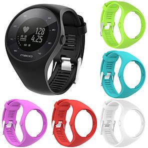 ieftine Gadget Baie-curea de mână cu bandă de cauciuc din silicon moale pentru ceas de fitness polar m200