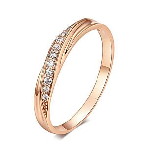 ieftine Inele-Inele de nunta cu zirconiu cubic bijuterii verighete argintiu / roz auriu