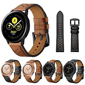 Недорогие Часы для Samsung-ремешок для часов из натуральной кожи с быстрой посадкой для samsung gear sport r600 / s2 classic r732 / часы galaxy 42 мм r815 / часы galaxy active (40 мм) часы r500 / galaxy active 2