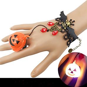 ieftine Brățări-Pentru femei Roșu Bratari Vintage Ring Bracelets Cercei / brățară Retro Craniu Băţ Declarație Punk La modă Gotic Modă Aliaj Bijuterii brățară Negru Pentru Halloween Club / Brățară cu Pandativ
