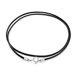 ieftine Coliere-Bărbați Pentru femei Granat Torțe Pară Inimă Clasic Piele S925 Sterling Silver Argintiu 35-65 cm Coliere Bijuterii 1 buc Pentru Zilnic