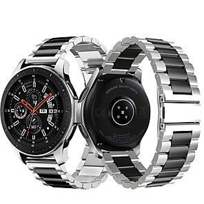ieftine Spoturi LED-curea de încheietura din oțel inoxidabil din metal pentru ceas Samsung Galaxy Galaxy 46mm / Gear S3 classic / frontier brățară înlocuibilă