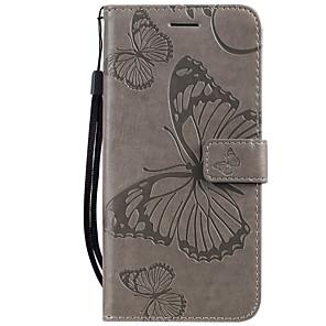 ieftine Brățări-carcasa pentru oppo r11s vivo y67 carcasa telefon pu piele material brodat model fluture carcasa de telefon solid