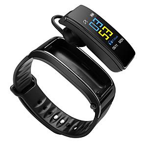 povoljno Muški satovi-Smart Satovi Šiljci za meso Moderna Sportski Silikon 30 m Vodootpornost Heart Rate Monitor Bluetooth Šiljci za meso Ležerne prilike Outdoor - Crn Crna / Srebrna