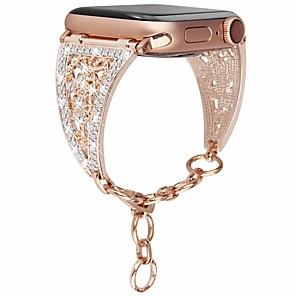 Недорогие Ремешки для Apple Watch-женский бриллиантовый ремешок для яблочных часов серии 4/3/2/1 браслет из нержавеющей стали ремешок для браслета iwatch 38мм / 42мм / 40мм / 44мм