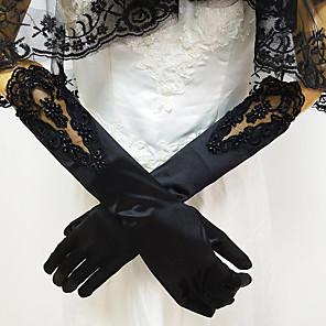 ieftine Mănuși & Mănuși 1 deget-Dantelă / spandex Fabric Lungime Cot Mănușă Dantelă / Mănuși Cu Solid