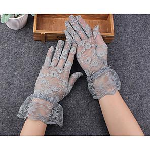 ieftine Mănuși & Mănuși 1 deget-Dantelă Lungime Încheietură Mănușă Margine dantelată / Dantelă Cu Terminaţii