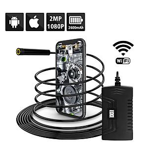 billige Mikroskop og endoskop-1080p semi-stivt wifi inspeksjonskamera 2.0mp hd vanntett slangekamera med 6 led for androidios smarttelefon macbook os