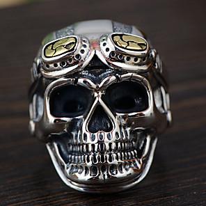 povoljno Prstenje-Muškarci Prsten 1pc Srebro Legura Nepravilan Vintage Punk pomodan Dnevno Jewelry Vintage Style Lubanja