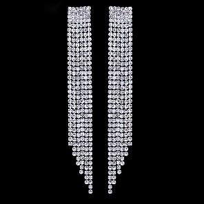 ieftine Cercei-Pentru femei Cercei Picătură Cercei Cercei Dangle Franjuri Prinţesă Lux Stil Atârnat European Modă Elegant Diamante Artificiale cercei Bijuterii Argintiu Pentru Nuntă Petrecere Logodnă Cadou Zilnic