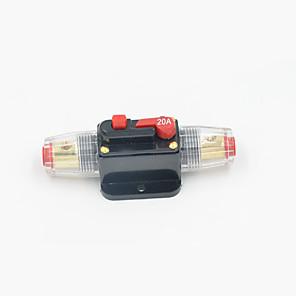 hesapli Küpeler-Satır içi devre kesici stereo / ses / araba / tekne / rv yeniden başlatılabilir sigorta 12 v / 24 v / 32 v koruma akımı gerilim dc12 / 24/32 v