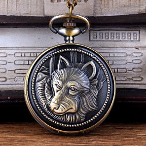 ieftine Ceasuri Digitale-Bărbați Ceas de buzunar Quartz Stil Vintage Vintage Creative Analog - Digital Bronz
