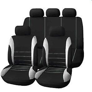 ieftine Huse de Scaun & Accessorii-9pcs / set huse auto scaun confortabil rezistent la praf pânză art protejează perna scaune auto car-styling auto automobil interior universal scaun complet