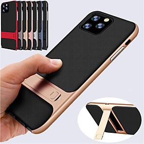 ieftine Brățări-Husa hibrid rezistentă la șoc din silicon moale tpu pentru iphone 11 pro / iphone 11 / iphone 11 pro max hard pc suport pentru bara de protecție pentru iphone xs max xr xs x 8 plus 8 7 plus 7 6 plus 6