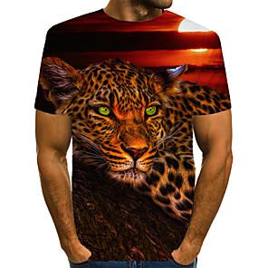 ieftine Cercei-Bărbați Tricou Vintage / Rock - Leopard / #D / Animal Imprimeu Lup Curcubeu