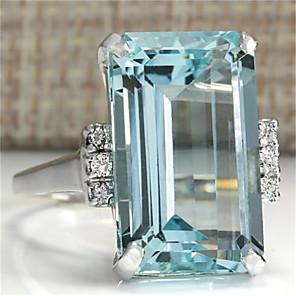 ieftine Diode-Pentru femei Inel reglabil Zirconiu Cubic 1 buc Argintiu Argilă Design Unic European La modă Cadou Zilnic Bijuterii Temă Florală Draguț