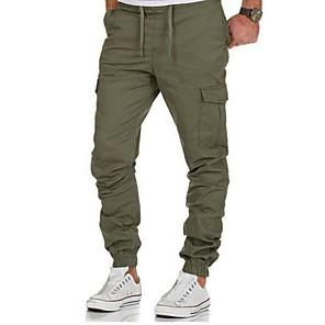 ieftine Curele Bărbați-Bărbați De Bază / Șic Stradă Pantaloni Chinos / Pantaloni Sport Pantaloni - Mată / Dungi Negru Verde Militar Bleumarin US34 / UK34 / EU42 US36 / UK36 / EU44 US38 / UK38 / EU46