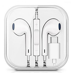 ieftine Aurii cu fir cu fir-Usb digital stereo audio tipc în căști pentru urechi pentru xiaomi samsung huawei sport cu fir microfoane cu cască căști hifi fir control audio