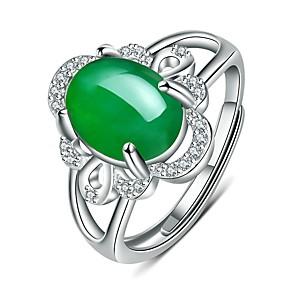 ieftine Inele-Pentru femei Inel Inel deschis 1 buc Verde Rosu Articole de ceramică Circular De Bază Corean Modă Cadou Zilnic Bijuterii