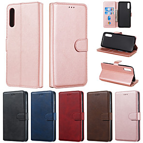cheap Galaxy J Series Cases / Covers-Case For Samsung Galaxy A6 (2018) / Galaxy A7(2018) / A5(2017) Wallet / Card Holder / with Stand Full Body Cases Solid Colored PU Leather