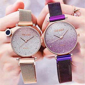 ieftine Cuarț ceasuri-Pentru femei Quartz Quartz Stil modern Stl Albastru / Fucsia / Rose 30 m Draguț Model nou Culoare Gradient Analog Modă Elegant - Negru Roz auriu Mov Un an Durată de Viaţă Baterie