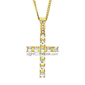ieftine Colier la Modă-Bărbați Pentru femei Coliere cu Pandativ Lănțișoare Colier lung, Geometric Σταυρός Design Unic Modă Hip-Hop Zirconiu Placat Auriu Auriu Argintiu 60 cm Coliere Bijuterii 1 buc Pentru Stradă